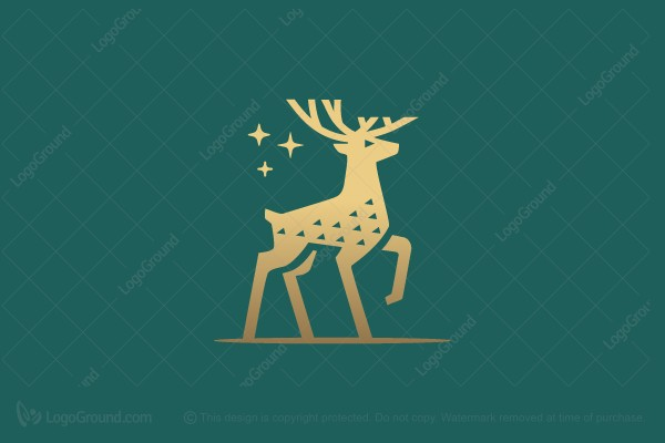Logo for sale: Deer Minimal Logo