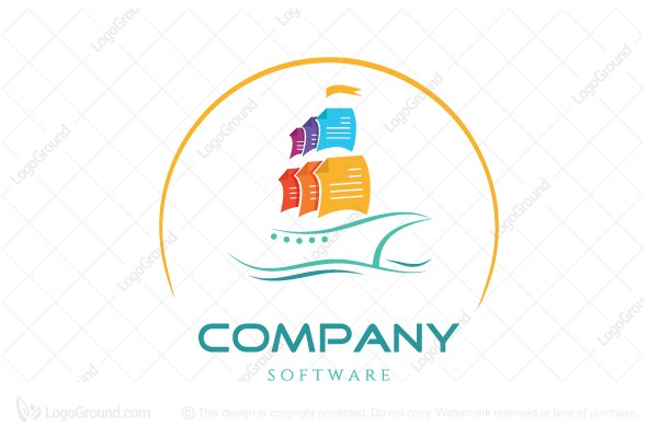 Logo for sale: Documents Ship Logo