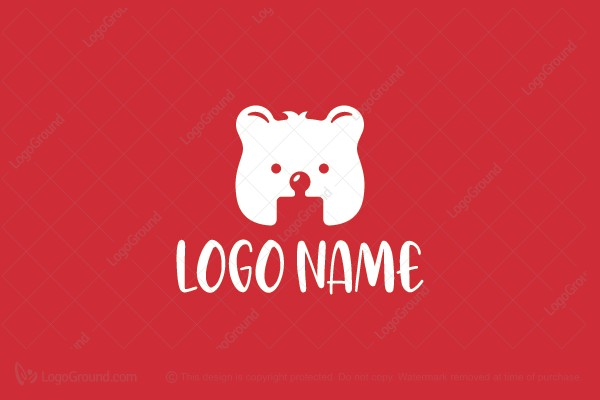 Logo for sale: Puzzle Bear Logo