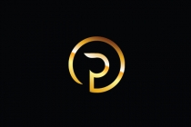 Golden Logo P Logo