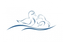 Couple Duck Logo