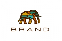 Savanna Elephant Logo