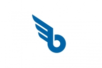 Letter B With Wing...
