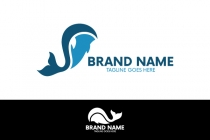 Letter Whale Logo
