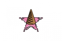 Ice Cream Star Logo