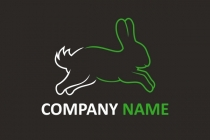 Rabbit Jumping Logo