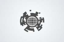 Mechanical Globe Logo