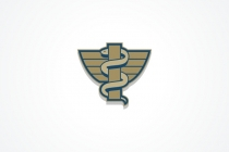 Brown Caduceus  Logo