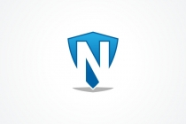 Shield Letter N Logo