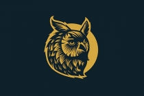 Owl Logo In Retro...