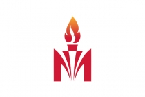 Letter M Torch Logo