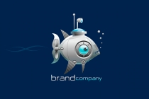 Fish Submarine Logo