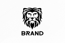 Black Lion Head Logo