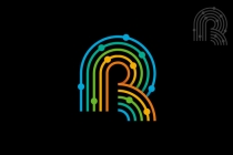 Colorful Letter R...