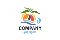 Summer Palm Tree Logo