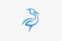 Abstract Heron Logo