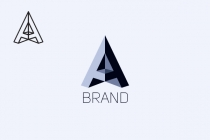 A Pyramid Letter Logo