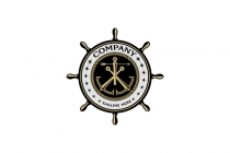Ship Wheel Logo  Logo