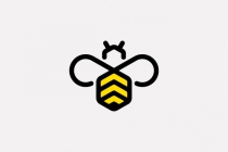 Abstract Bee Logo