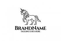 White Unicorn Logo