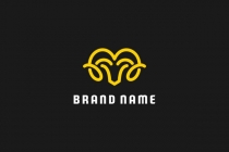 Simple Ram Head Logo
