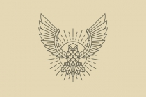 Line Art Eagle Logo