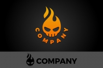 Flaming Skull Logo