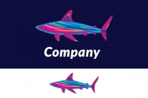 Colorful Shark Logo