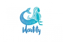 Yoga Mermaid Logo