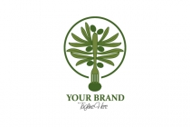 Green Olive Tree Logo