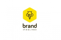 Bee Icecream Logo