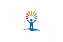 Child Rainbow Logo