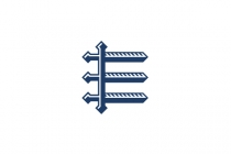 Letter E Swords Logo