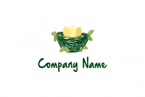 Green Bird Nest Logo