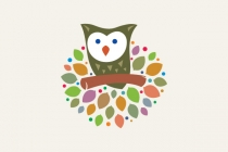 Owl On The Tree Logo