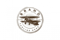 Airplane Retro Logo