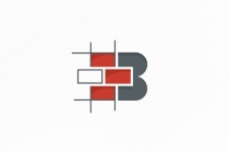 Letter B  Bricks Logo