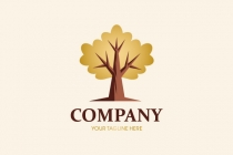 Golden Oak Tree Logo