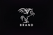 Bold Lines Horse Logo