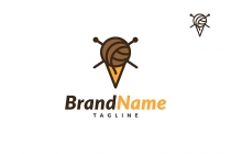 Yarn Ice Cream Logo