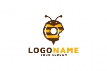 Bee Honey Donut Logo