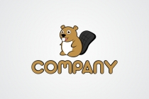 Cute Beaver Logo And Mascot Logo
