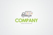 Cute Food Truck  Logo
