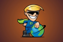 PNG Logo: Cartoon Superhero...