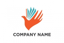 Hand Book Bird Logo