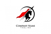 Logo with horse and...