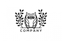 Leaf And Owl Logo