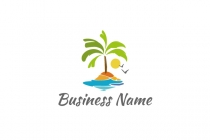 Fun Palm Tree Logo