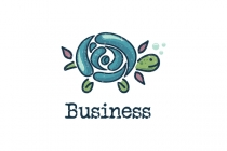 Sea Flora Turtle Logo