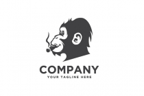 Monkey Smoking  Logo